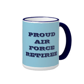 Jubilado orgulloso de la fuerza aérea de la taza