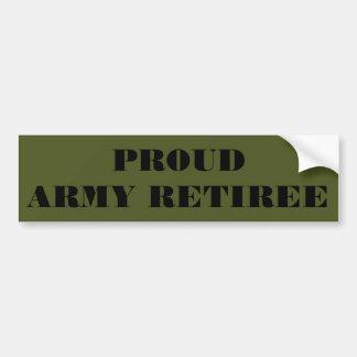 Jubilado orgulloso del ejército de la pegatina par pegatina para auto