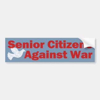 Jubilados contra guerra pegatina para auto