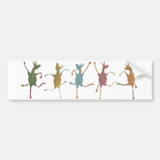 Jubilant Jennets (Silly Fillies) bumper sticker Car Bumper Sticker