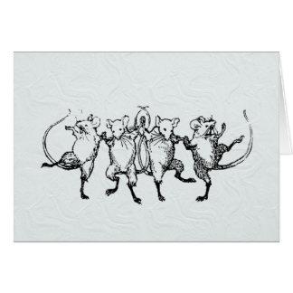 Jubilant Mice Card