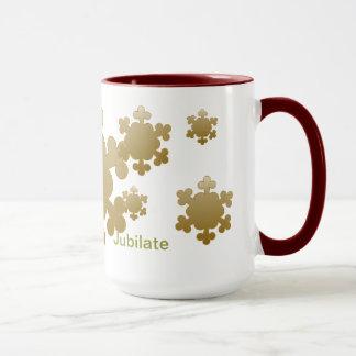 Jubilate, Let us rejoice, snowflake mug