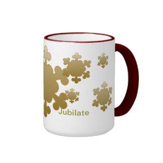 Jubilate Let us rejoice snowflake mug