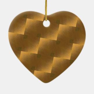 Jubilee áureas adorno navideño de cerámica en forma de corazón