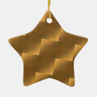 Jubilee áureas adorno navideño de cerámica en forma de estrella