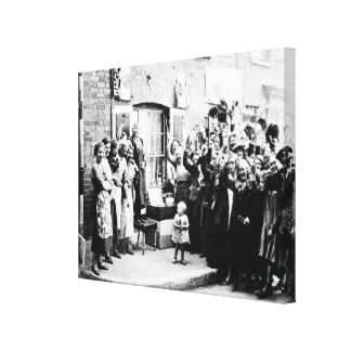 Jubilee Decoration in the East End Canvas Print