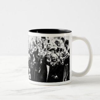Jubilee Decoration in the East End Two-Tone Coffee Mug