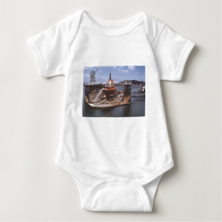 Jubilee floating dock Ngahue 1975 Baby Bodysuit