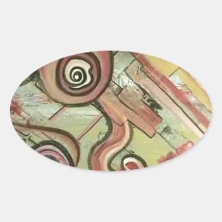 Jubilee Movement Straw Acrylic Art Oval Sticker