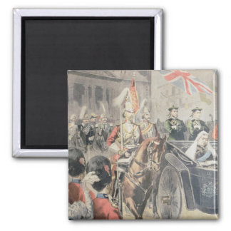 Jubilee of the Queen of England 2 Inch Square Magnet