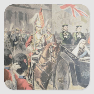 Jubilee of the Queen of England Square Sticker