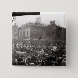 Jubilee Procession in Whitehall, 1887 Pinback Button