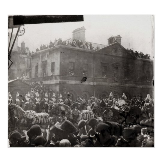 Jubilee Procession in Whitehall, 1887 Poster