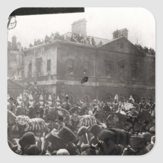 Jubilee Procession in Whitehall, 1887 Square Sticker