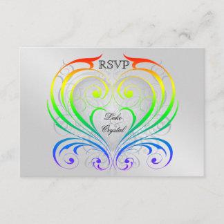 Jubilee Rainbow Heart Rsvp Invitation