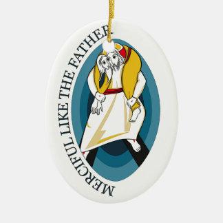 JUBILEE YEAR OF MERCY GEAR CERAMIC ORNAMENT