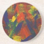 Jubileo abstracto de la pintura 31 posavasos diseño