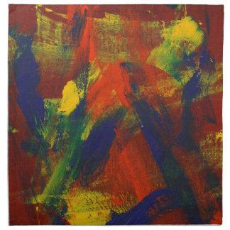 Jubileo abstracto de la pintura 31 servilletas imprimidas