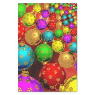 Jubileo colorido del ornamento del navidad papel de seda pequeño