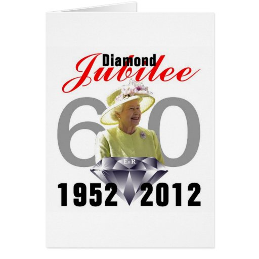 Jubileo de diamante 1952-2012 tarjeta de felicitación