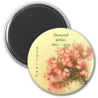 Jubileo de diamante 1952 - Escocia 2012 Imán Redondo 5 Cm