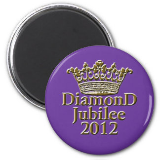 Jubileo de diamante 2012 con la corona imán redondo 5 cm