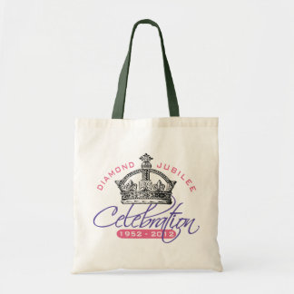 Jubileo de diamante británico - recuerdo real bolsas lienzo