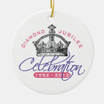 Jubileo de diamante británico - recuerdo real ornamentos de navidad