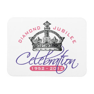 Jubileo de diamante británico - recuerdo real imanes rectangulares