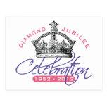 Jubileo de diamante británico - recuerdo real tarjeta postal