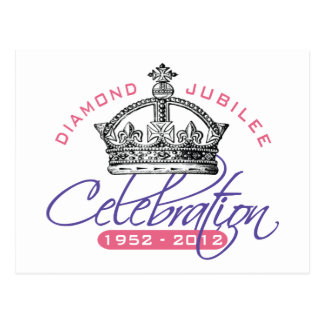 Jubileo de diamante británico - recuerdo real postal