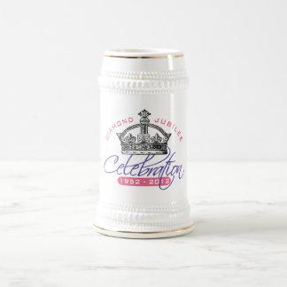 Jubileo de diamante británico - recuerdo real jarra de cerveza