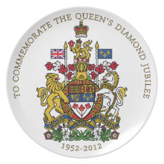 Jubileo de diamante Canadá Plato Para Fiesta