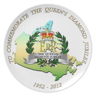 Jubileo de diamante Canadá Platos Para Fiestas