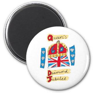jubileo de diamante de la reina Elizabeth 2012 Imán Redondo 5 Cm