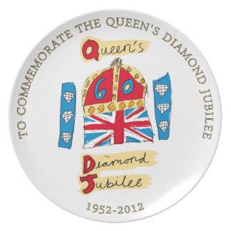 Jubileo de diamante de la reina Elizabeth II Plato