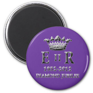 Jubileo de diamante del ER II Imán Redondo 5 Cm