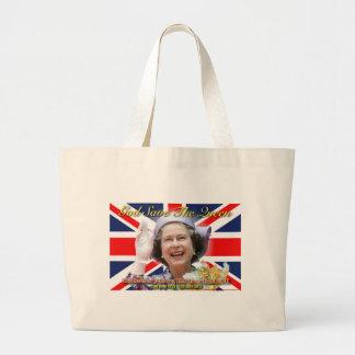 Jubileo de diamante del HM reina Elizabeth II Bolsa Tela Grande