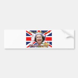 Jubileo de diamante del HM reina Elizabeth II Etiqueta De Parachoque