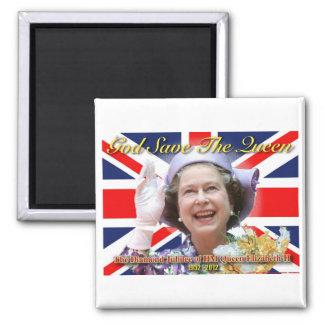 Jubileo de diamante del HM reina Elizabeth II Imán Cuadrado