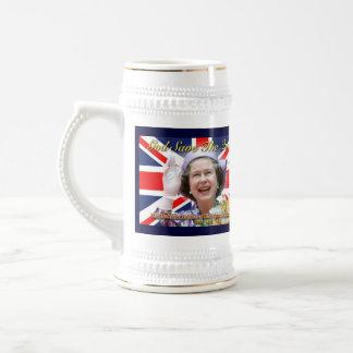 Jubileo de diamante del HM reina Elizabeth II Jarra De Cerveza
