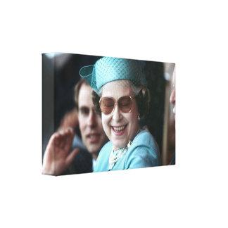 Jubileo de diamante del HM reina Elizabeth II Lona Envuelta Para Galerias