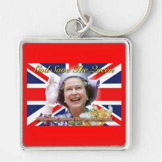 Jubileo de diamante del HM reina Elizabeth II Llaveros Personalizados
