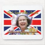 Jubileo de diamante del HM reina Elizabeth II Tapetes De Ratón