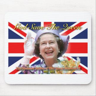Jubileo de diamante del HM reina Elizabeth II Tapetes De Ratones