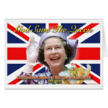 Jubileo de diamante del HM reina Elizabeth II Tarjeton