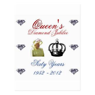 Jubileo de diamante del Queens 1952-2012 60 años Postal