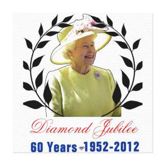 Jubileo de diamante del Queens 60 años de impresió Impresiones En Lienzo Estiradas