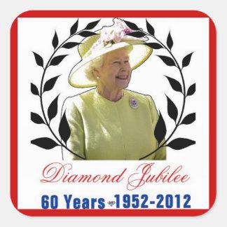 Jubileo de diamante del Queens 60 años de Pegatina Cuadrada