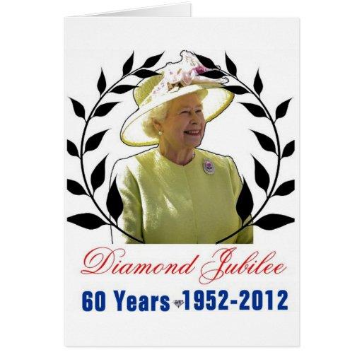 Jubileo de diamante del Queens 60 años de tarjeta